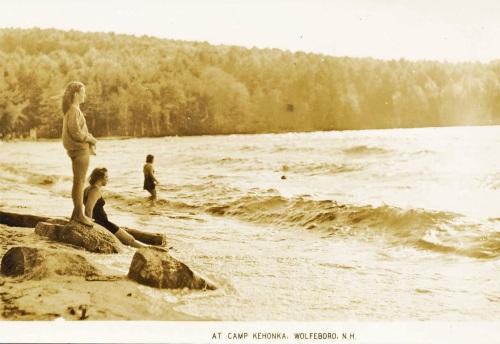 Camp Kehonka: Point Beach (vintage postcard)